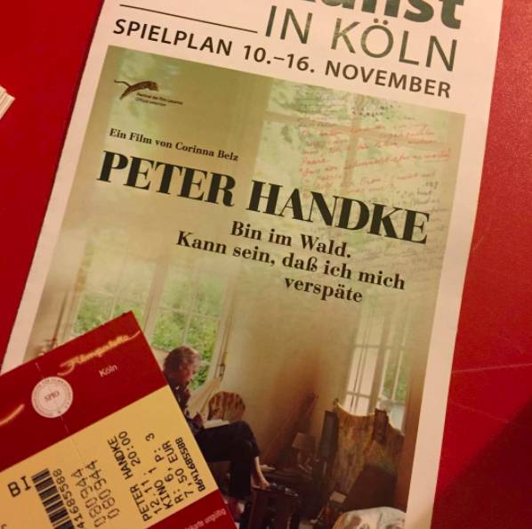 Im Kino mit PeterHandke
