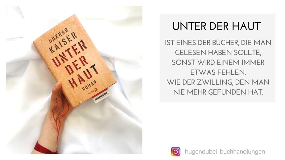 """Hugendubel über """"Unter derHaut"""""""