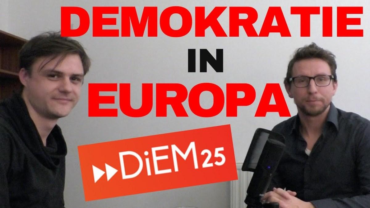 Demokratie in Europa - DiEM25 - Lorin Brenig im Gespräch